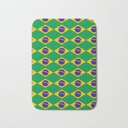 flag of brazil 2-Brazil, flag, flag of brazil, brazilian, bresil, bresilien, Brasil, Rio, Sao Paulo Bath Mat