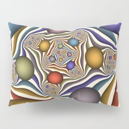 Flying Up, Colorful, Modern, Abstract Fractal Art Pillow Sham