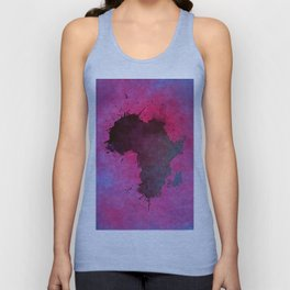 Africa map pink #africa #map Unisex Tank Top