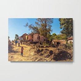 Village of Madagascar Metal Print