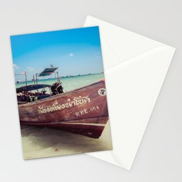 Longtail Boat on Phi Phi Island Thailand Stationery Cards