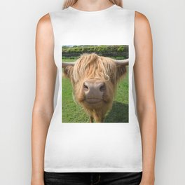 Highland cow nose Biker Tank