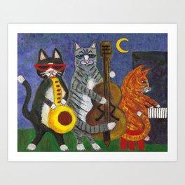 Jazz Cats Art Print