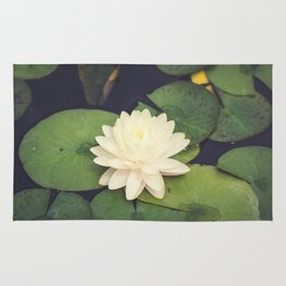 Peaceful Water Lily Rug