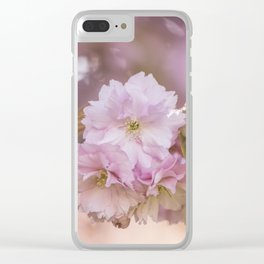 Cherry Blossom LOVE - Sakura - Pink Flower Flowers Clear iPhone Case