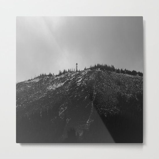 Black Butte Metal Print