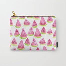 Watermelons - white background Carry-All Pouch