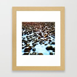 Endless Snowy Rocks Framed Art Print