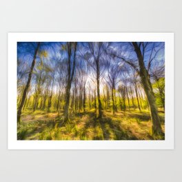 Turner Storms Forest Art Art Print