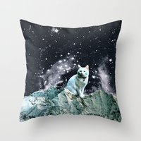 wizard Throw Pillows featuring WIZARD by Beth Hoeckel