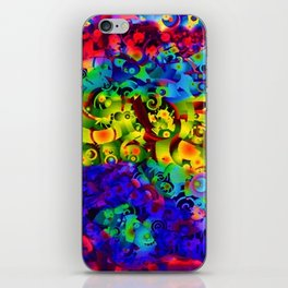 Space fold art abstract vivid color   iPhone Skin