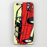 audi iPhone & iPod Skins featuring AUDI QUATTRO BRITISH EDITION 20V RED and BEIGE by Егор Шиянов