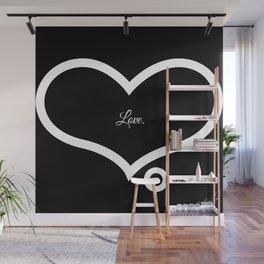 Love. (Black)  Wall Mural