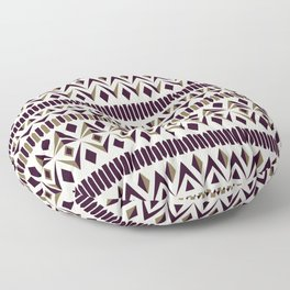 Tribal dance beige, gold and dark maroon Floor Pillow
