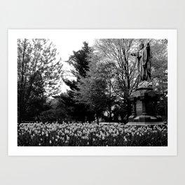 God Quad in Spring Art Print