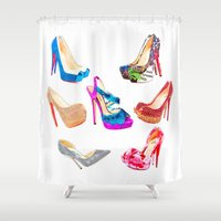 shoes Shower Curtains featuring SHOES! by HeyShay