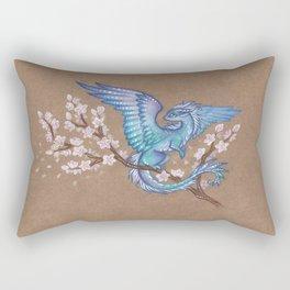 Azure sakura dragon Rectangular Pillow
