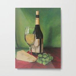 White wine, Still life Metal Print