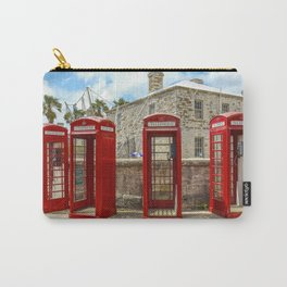 Red Phone Booths In Bermuda Carry-All Pouch
