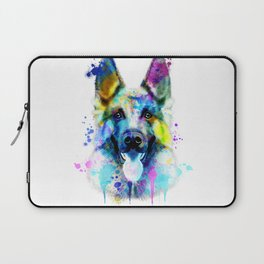 German Shepherd Watercolor, Watercolor Dog print, German Shepherd Print, German Shepherd Art Laptop Sleeve
