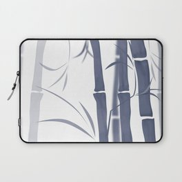 Bamboo . Blue and white . Laptop Sleeve