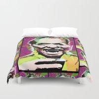 bukowski Duvet Covers featuring Charles Bukowski. The Wooden Butterfly. by brett66