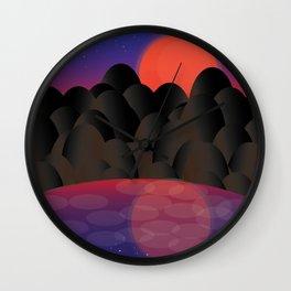 Romancing The Sunset Wall Clock