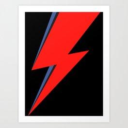 David Bowie Lightning bolt Art Print