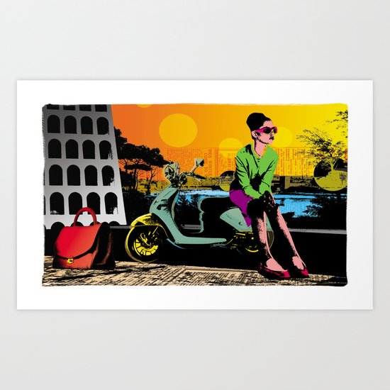 Waiting for marcello Art Print