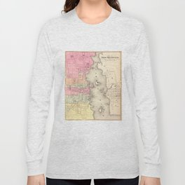 Vintage Map of New Bedford MA (1871) Long Sleeve T-shirt