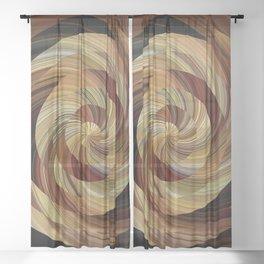 Cinnamon Roll Sheer Curtain