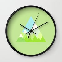 the national Wall Clocks featuring national park by emma method