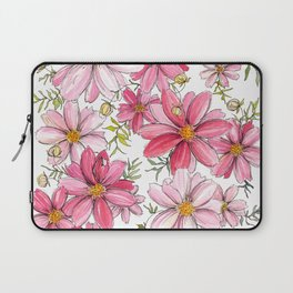Pink Spring Flower Pattern Laptop Sleeve