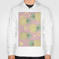 pineapples Hoodies featuring Pineapples by homotrippin