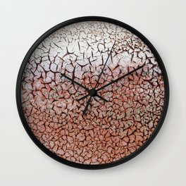 Weathered Paint Wall Clock