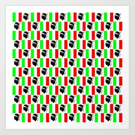 Mix of flag: Corsica and Italy Art Print
