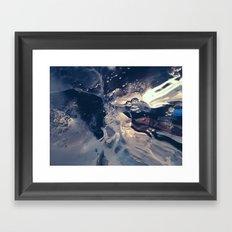 Ice Study Framed Art Print