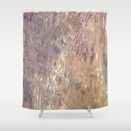 Iridescent Puddle Shower Curtain