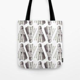 Badminton Shuttlecocks Pencil Drawing Tote Bag