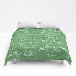 Library Card 23322 Negative Green Comforters