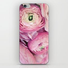 Pink Ranunculus iPhone Skin