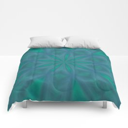 Aurora In Jade and Blue Comforters