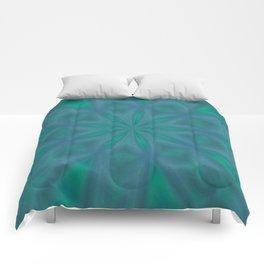 Aurora In Jade and Blue Comforters