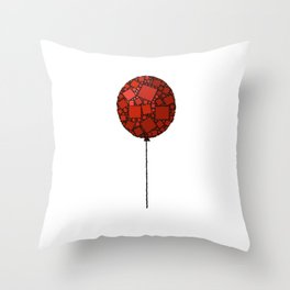 Rise Up - Little Red Balloon - Love - Children - 57 Montgomery Ave Throw Pillow