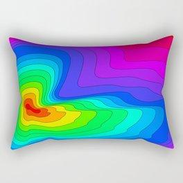 Rainbow Contour Rectangular Pillow