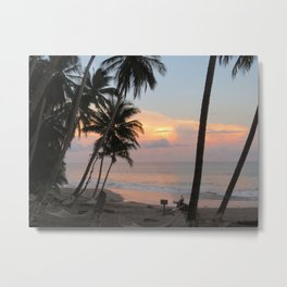 Costa Rican Beach Sunset Metal Print