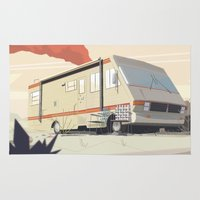 breaking bad Area & Throw Rugs featuring Breaking Bad by Fabiano Souza