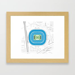 Stadium Traditions: The Panther's Lair (Bank of America Stadium) Framed Art Print