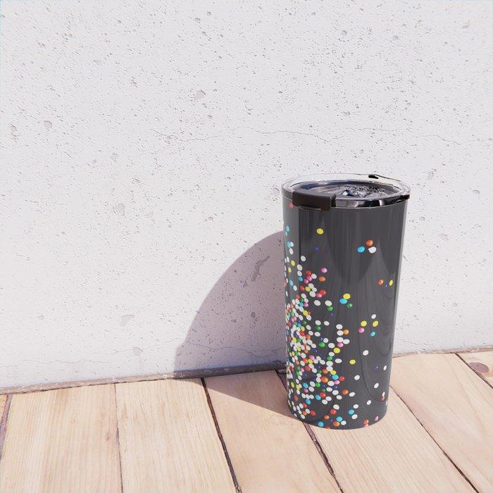 Sprinkles - Vintage Black Travel Mug