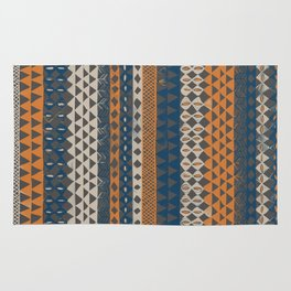 Hand-Painted Ethnic Pattern Rug